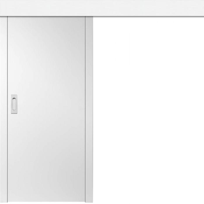 ERKADO Posuvné dveře na stěnu bílé lakované UNO PREMIUM
