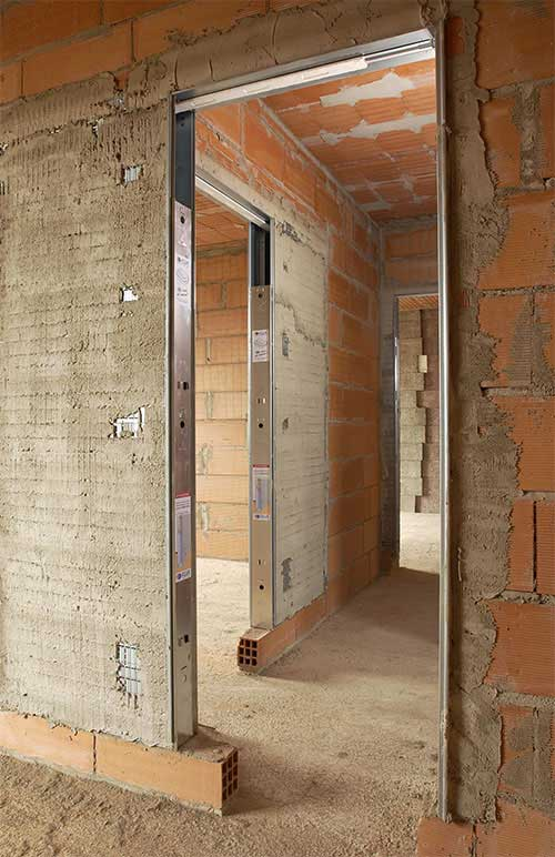 Pouzdra pro posuvné dveře do zdiva